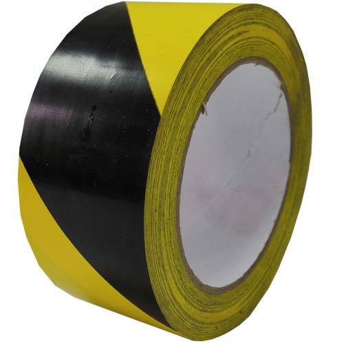 Лента напольная разметочная для разметки пола 3103, 50мм*16.5м, черно - желтая