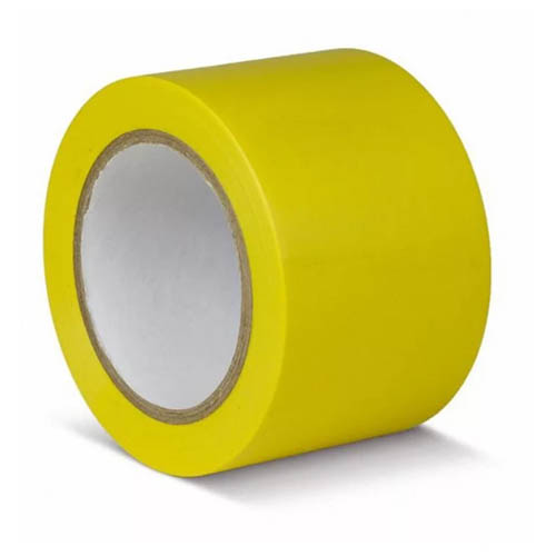 Лента для разметки пола, желтая.