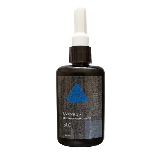 УФ клей SM Chemie 500 для силикатного стекла, 100 мл.
