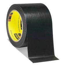 Лента скотч 3м односторонний 471 черная для разметки пола