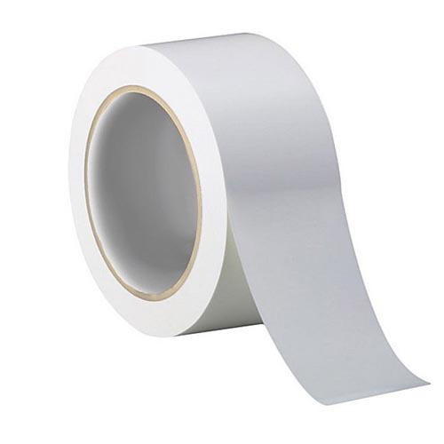 Лента скотч 3м односторонний 471 белая для разметки пола