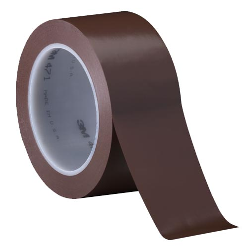 Лента скотч 3м односторонний 471 коричневая для разметки пола