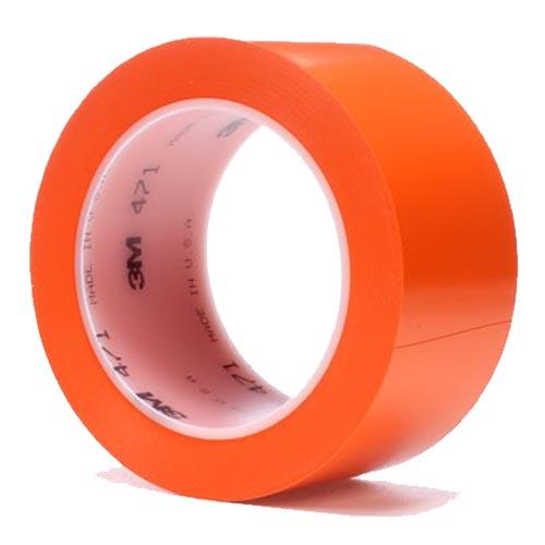 Лента скотч 3м односторонний 471 оранжевая  для разметки пола