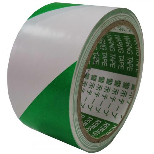 Лента напольная разметочная для разметки пола 3103, 50мм*16,5м, бело-зеленая
