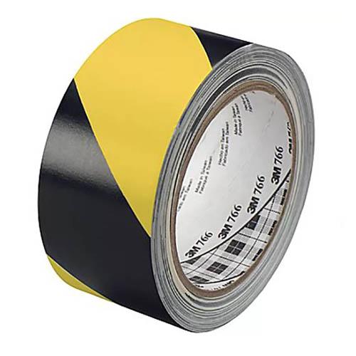 3M 766I Лента напольная разметочная для разметки пола чёрно-жёлтая