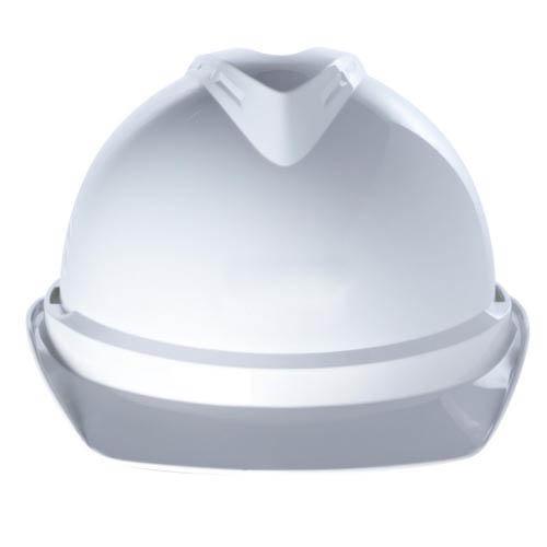 Каска защитная V-Gard 500, без вентиляции. Оголовье Fas-Trac III с храповиком со вшитой налобной лентой из ПВХ. Корпус из акрилонитрил-бутадиен-стирола (ABS)