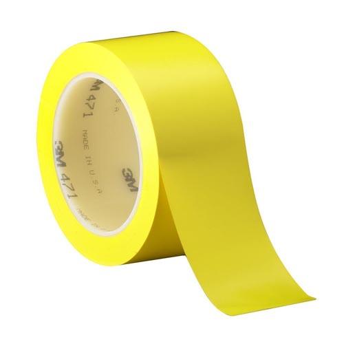 Лента напольная разметочная для разметки пола 3103, 50мм*16,5м, желтая